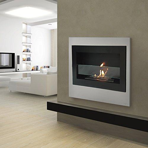 Richmond Richness Matte Black Metal Wall Mount Ventless Bio Ethanol Fireplace with Burner Insert 100% Compensation Guaranteed