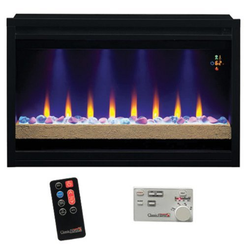 Builders Box 36 In. Fixed Front Fireplace Insert (110V 36 In. Contemporary Builders Box)