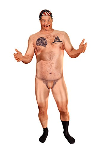 Morphsuits Men's Naked Censored Hill Billy Adult Costume