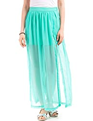 Shuffle Women's A-Line Skirt (1021610593_Turquoise_X-Large)