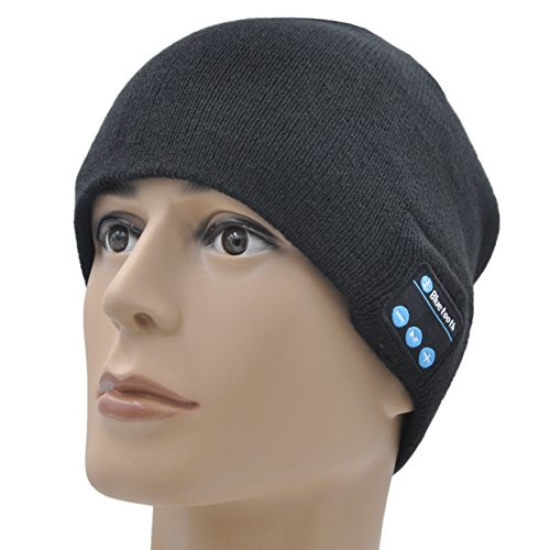 XIKEZAN Wireless Bluetooth Beanie Hat Men & Women Knit Winter Cap With Built- in Stereo Headphones