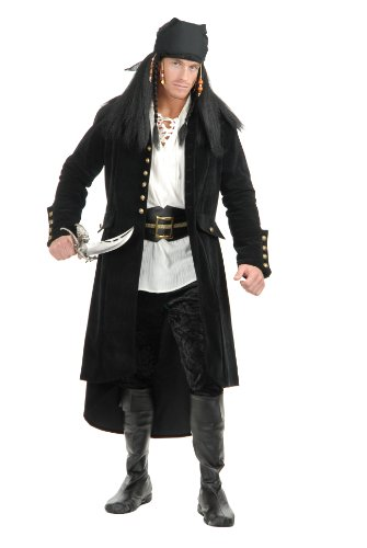 Men's Treasure Island Pirate Jacket, Black