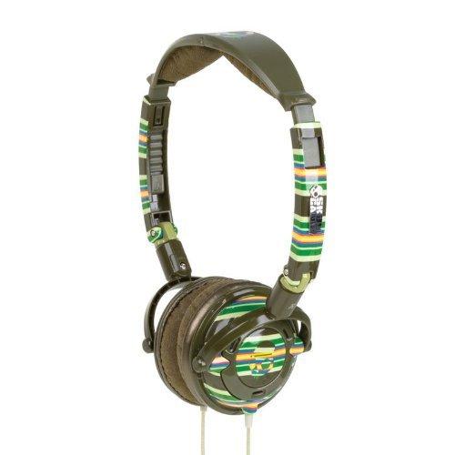 Skullcandy Lowrider Stereo Headphones (Brown Stripe)
