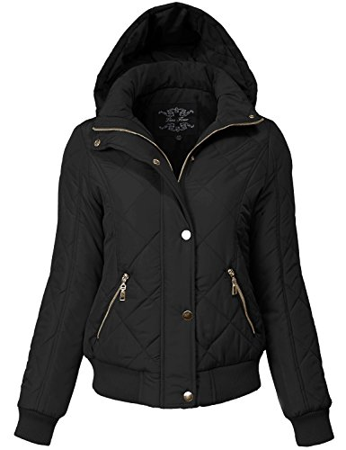 Warm Regular Fit Quilted Padding Bomber Jackets Medium 149-black (Quilted Thermal Jacket compare prices)