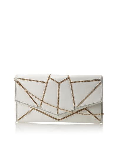 Nila Anthony Women's Beaded Detail Clutch, White