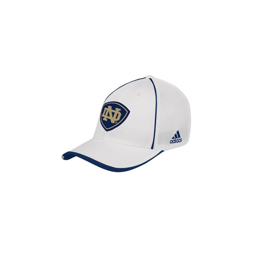 adidas Notre Dame Fighting Irish White Youth Coaches Mesh Stretch Hat