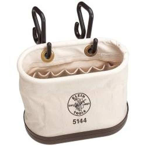 Klein Tools 5144 Aerial-Basket Oval Bucket with 15 Interior Pockets