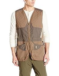 Browning Men\'s Summit Vest, Green/Dark Grey, Small