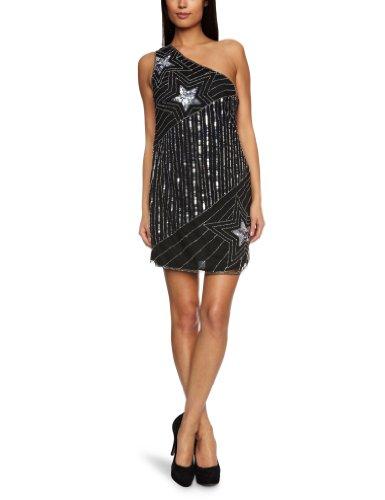 Lipsy DR05507 One Shoulder Women's Dress Black  8