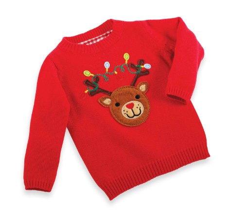 Mud Pie Baby-Boys Infant Reindeer Sweater, Multi Colored, 9-12 Months Reviews