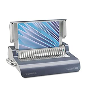 Fellowes® QuasarTM Comb Binding System MACHINE,QUASAR 500COMB,GY (Pack of2)