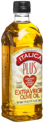 Italica Extra Virgin Olive Oil Plus Vitamins A-D-E, 17-Ounce Bottles (Pack of 2)