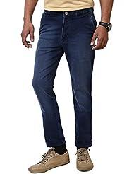 JCTex Men's Blue Denis Wash Slim Fit Jeans 30