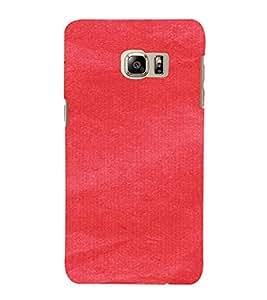 PrintVisa Red Canvas Paper Design 3D Hard Polycarbonate Designer Back Case Cover for Samsung Galaxy S6 Edge+ Plus