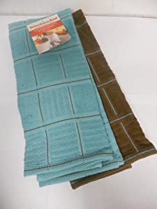 KitchenAid Kitchen Towels Blue / Rich Brown , Set of 2 at Sears.com
