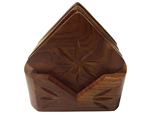 Wooden Drink Coaster Square Shaped, wooden Coaster set, Tea / Coffee Cup Holder,Thanks Giving or Christmas Gift