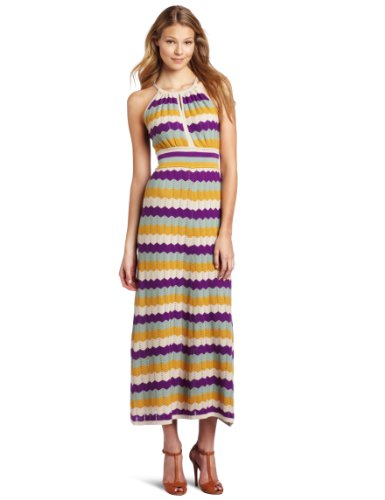 Design History Women's Pointelle Multi Color Maxi Dress