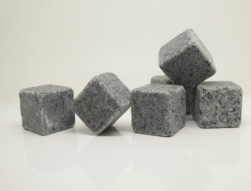 Sipping Stone Set Of 9Pcs Natural Rock Ice Cube Whisky Chilling Stone In Pouch + Gift Box Party Gift front-255353