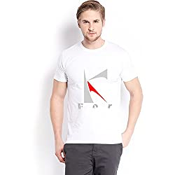 Trendster K Letter Printed Cotton White T Shirt