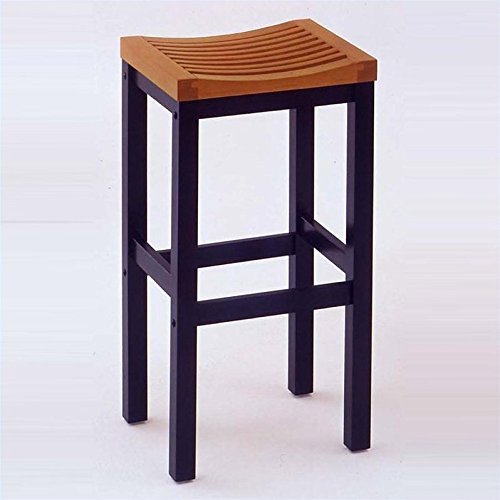 Home Styles 5635-88 Black and Cottage Oak Finish Bar Stool, 24-Inch