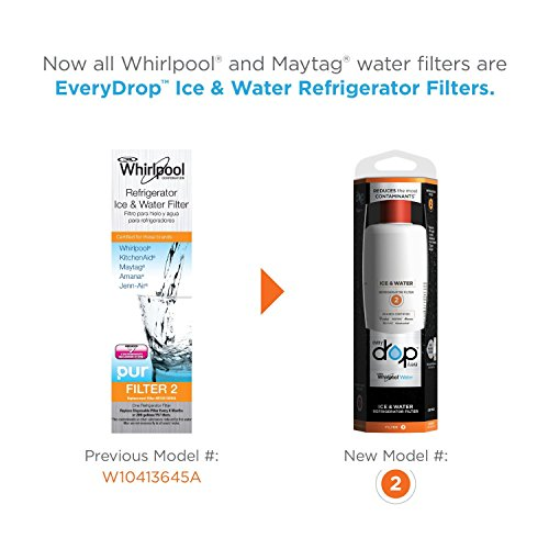 Whirlpool refrigerator water ice filter w10413645a 1 pack pur water filters - Whirlpool pur ice and water filter ...