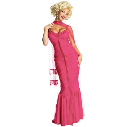 Secret Wishes Womens Marilyn Monroe Dress, Pink, X-Small