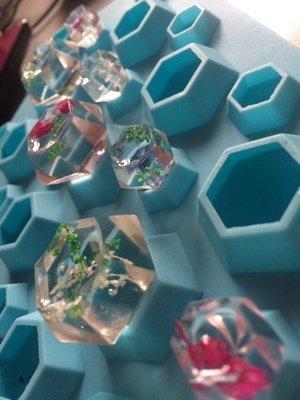ジュエリー シリコンモールド アクセサリー パーツ 作成 レジン ダイヤモンド (【2枚セット】ダイヤ・宝石)