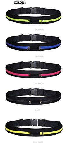 Reflective Running Sports Waist Pack Belt - Zipper Pockets Best for Accessories - Cell Phone, Keys, Headset, and Money - Great for Walking, Jogging,Biking,Hiking and Traveling (Red) (Dress Maker Pant Forms compare prices)