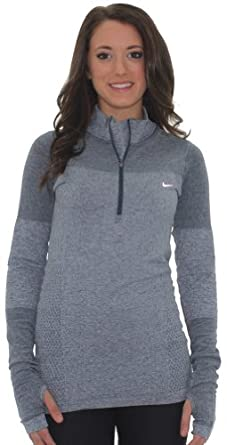 Nike Ladies Dri-Fit Half Zip Knit Top Shirt 546043 Long Sleeve by Nike