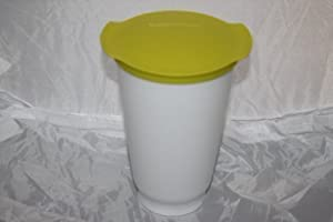 Tupperware Trinkbecher ALLEGRA CUP Joghurtbecher Becher 450ml --- weiss-lime