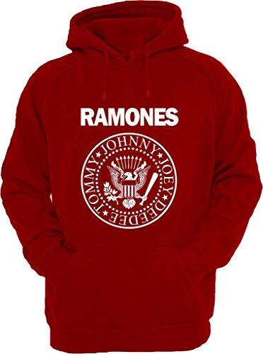 Felpa con cappuccio shirt a Ramones rosso XXXL