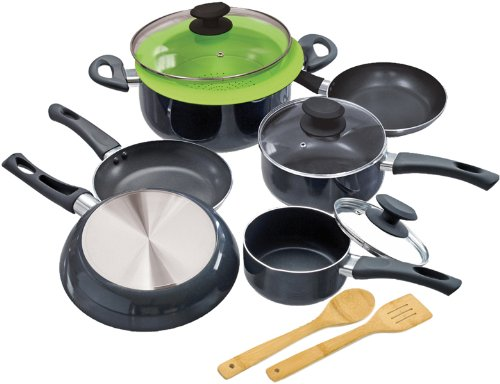 Ecolution Elements 12-Piece Cookware Set, Grey