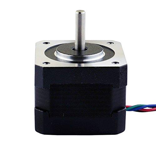Stepping Motor Nema 17 Stepping Motor 26Ncm(36.8oz.in) 12V 0.4A 3D Printer CNC by StepperOnline