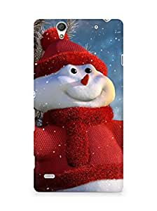 Amez designer printed 3d premium high quality back case cover for Sony Xperia C4 (Christmas Snowman)