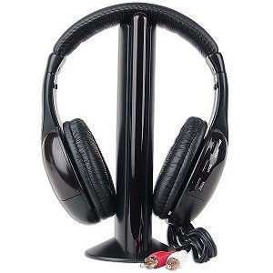 5-In-1 Hi-Fi S-Xbs Wireless Headphones W/Fm Radio