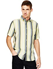 Modal Blend Soft Touch Tonal Striped Shirt