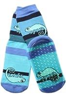 Weri Spezials Unisexe Bebes et Enfants ABS Eponge Cameleon Pantoufle Chaussons Chaussettes Antiderapants de Bleuet