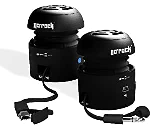 Grandmax SPKR-GR1-BK Tweakers GoRock Portable Speakers (Black)