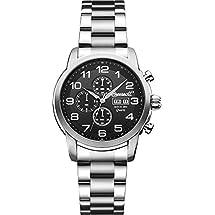 Ingersoll Men's INQ018BKSL Mount Analog Display Japanese Quartz Silver Watch