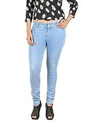De Krono Women's Skinny Fit Jeans - DSA 003_34_34_Blue