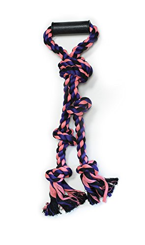 Pet Champion Large Big Dog 5 Knot w Handle Rope Toy Camo, Assorted (Champion Dog Toys compare prices)