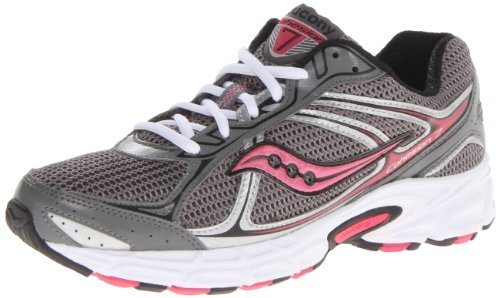 6efbcb86533 Saucony Women s Cohesion 7 Running Shoe Grey Black Pink 8 5 M US ...