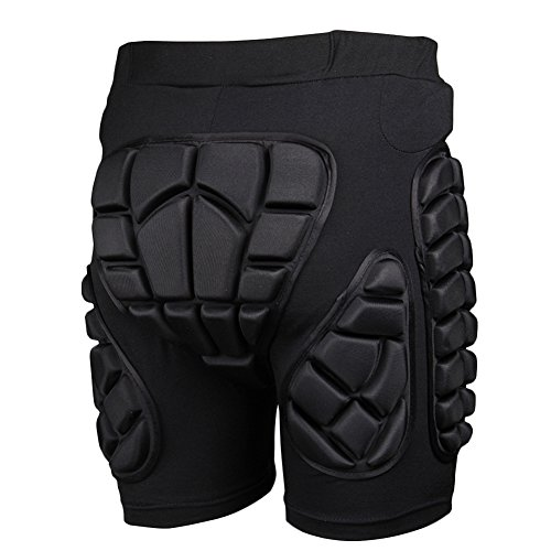 Adult 3D Hip EVA Padded Short Protective Gear for Skiing Skating Snowboard Impact Protection (Padded Snowboard Shorts compare prices)