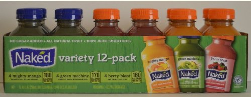 Naked Variety Pack Juice Smoothie 8 Mighty Mango , 8 Green Machine, 8 Berry Blast Total 24 Pack front-168926
