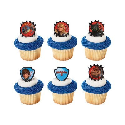 Best Deals! How to Train Your Dragon - Hiccup & Friends Cupcake Rings - 24 pcs