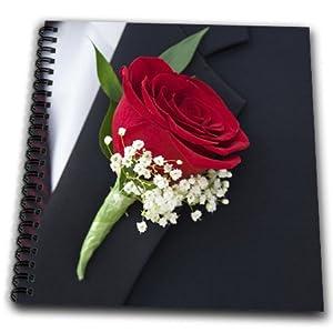 3dRose db_83193_1 Boutonniere on Grooms Lapel, Wedding Li05 Jen0000 Jim Engelbrecht Drawing Book, 8 by 8-Inch