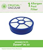 1 Dyson DC33 Post Filter Designed To Fit Dyson DC33 Multi Floor Vacuums, Part # 921616-01, Designed & Engineered By Crucial Vacuum