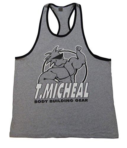 T. Micheal Ringer Tank Top-Grey/Black-M
