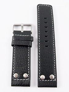 Oozoo OA-10-20 - Correa para reloj, piel, color negro de Oozoo