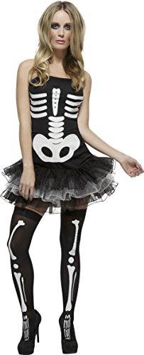 Smiffy's Women's Fever Sexy Skeleton Costume